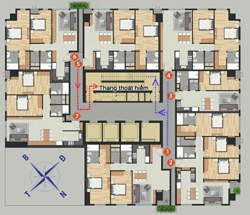 Cách chọn mua chung cư để dễ thoát hiểm khi xảy ra cháy nổ - Ảnh 1.