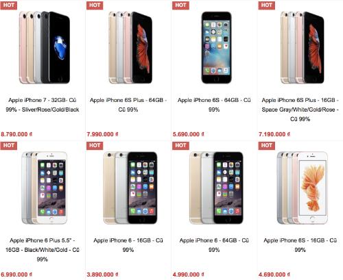 iPhone đời cũ tiếp tục rớt giá - Ảnh 1.