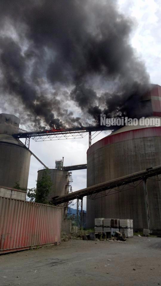 Cháy lớn ở Nhà máy Xi măng Xuân Thành Quảng Nam - Ảnh 2.