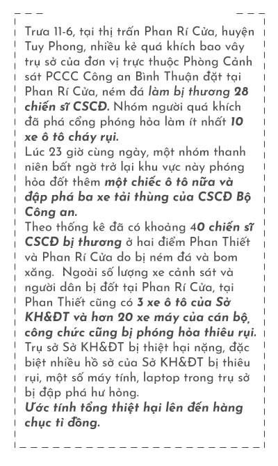 (eMagazine)- Toàn cảnh vụ gây rối ở TP HCM và Bình Thuận - Ảnh 16.