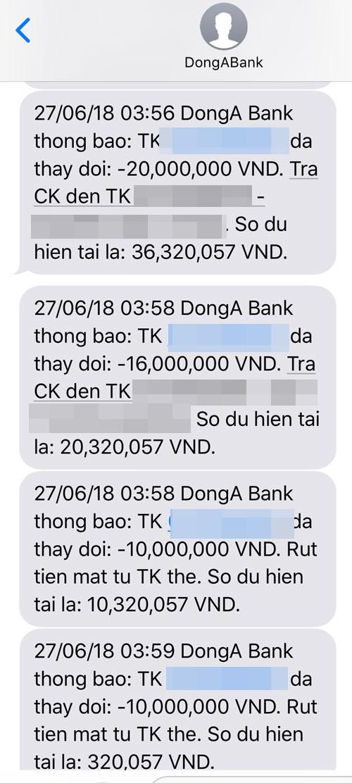 Hai chủ thẻ của DongA Bank cùng lúc mất hơn 200 triệu đồng - Ảnh 2.