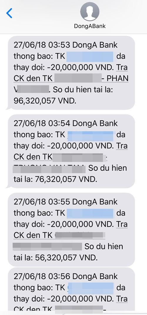 Hai chủ thẻ của DongA Bank cùng lúc mất hơn 200 triệu đồng - Ảnh 3.
