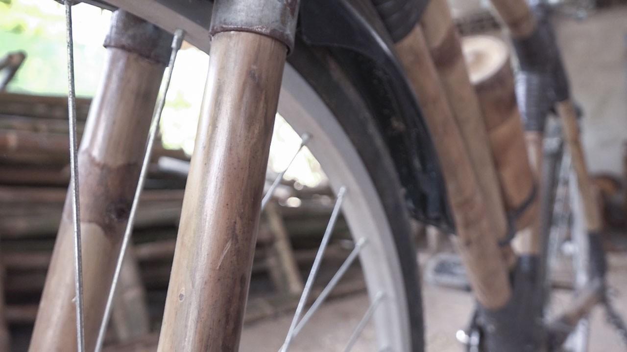 """(eMagazine) - Xe đạp tre """"Made in Trà Vinh"""" của nghệ nhân người Khmer - Ảnh 6."""
