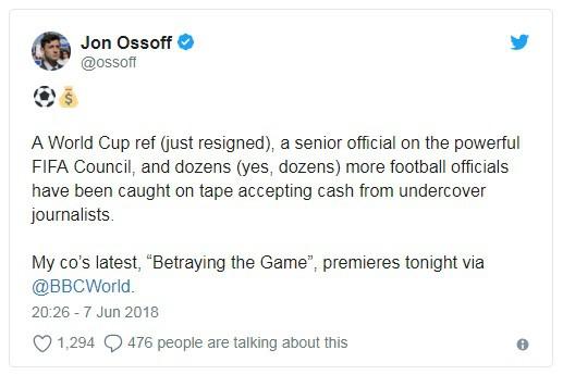 Nhận hối lộ, trọng tài bị đuổi khỏi World Cup 2018 - Ảnh 3.