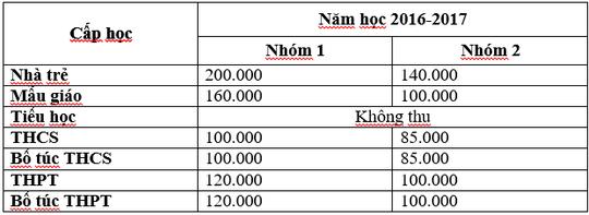 Học phí công lập tại TP HCM cho năm học mới - Ảnh 1.