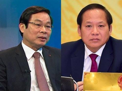 Ông Nguyễn Bắc Son và Trương Minh Tuấn bị Bộ Chính trị họp quyết định về việc kỷ luật - Ảnh: Kiến Qúi