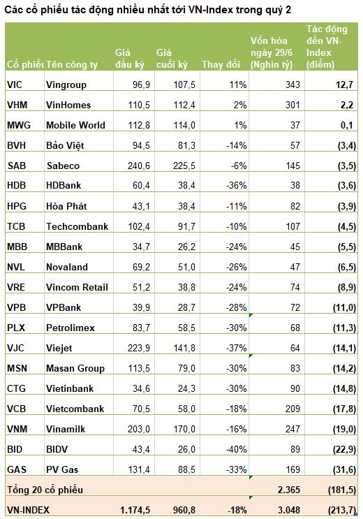 Những tội đồ làm VN-Index mất 214 điểm, giảm sâu nhất thế giới quý 2 - Ảnh 1.