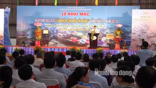 Tưng bừng Ngày hội Du lịch Văn hóa chợ nổi Cái Răng - Ảnh 1.
