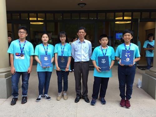 Học sinh Trường Trần Đại Nghĩa đoạt 5 huy chương kỳ thi toán quốc tế - Ảnh 1.