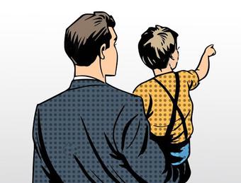 Bố thật và... bố ruột - Ảnh 1.