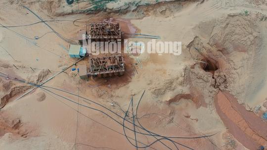 Flycam: Mỏ khai thác titan băm nát bãi biển Bình Thuận - Ảnh 8.