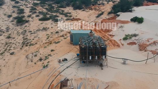Flycam: Mỏ khai thác titan băm nát bãi biển Bình Thuận - Ảnh 7.