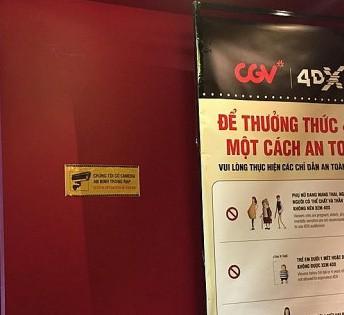 Xôn xao việc CGV thông báo có camera trong rạp phim - Ảnh 1.
