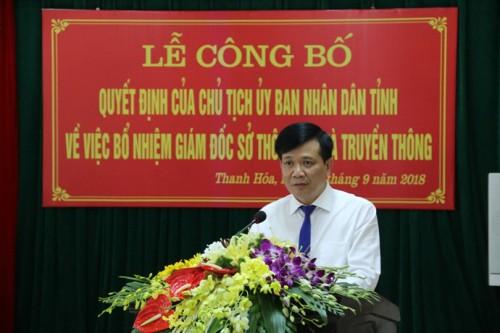 Ông Đỗ Hữu Quyết làm giám đốc Sở Thông tin và Truyền thông tỉnh Thanh Hóa - Ảnh 2.