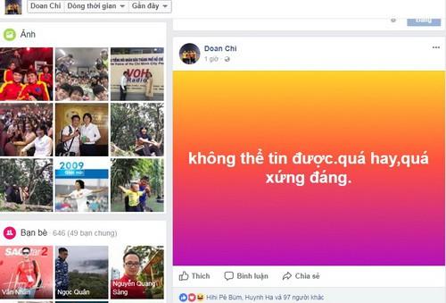 Mạng xã hội Facebook tràn ngập sắc đỏ chiến thắng - Ảnh 5.