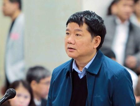Ông Đinh La Thăng kiến nghị HĐXX cho tại ngoại