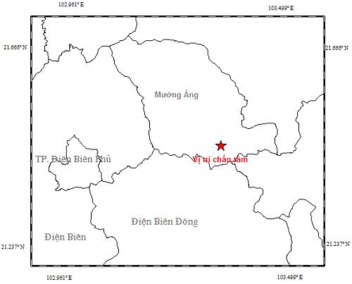 3 trận động đất liên tiếp tại tỉnh Điện Biên - Ảnh 1.