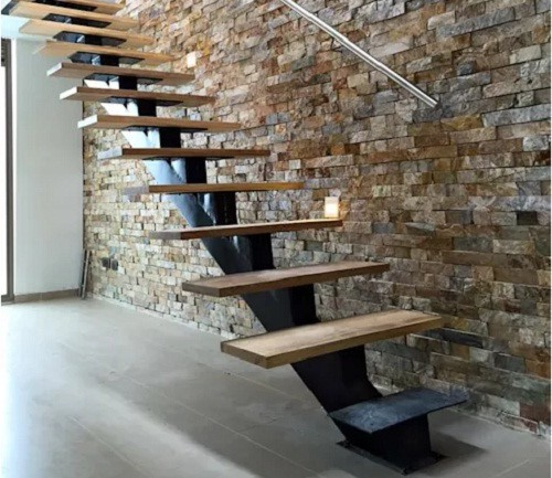 10 mẫu cầu thang gỗ đẹp hiện đại cho nhà phố chật chội - Ảnh 10.