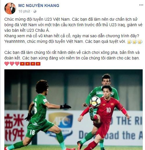 Sao Việt vỡ òa cùng chiến thắng của U23 Việt Nam - Ảnh 13.