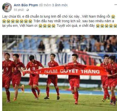 Sao Việt vỡ òa cùng chiến thắng của U23 Việt Nam - Ảnh 5.