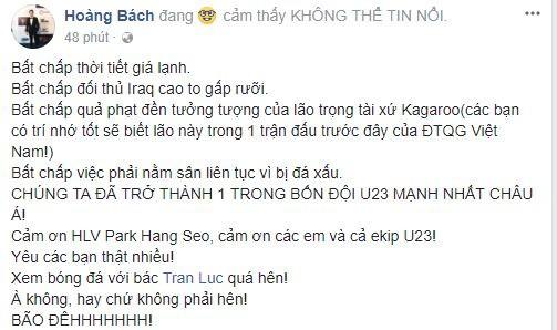 Sao Việt vỡ òa cùng chiến thắng của U23 Việt Nam - Ảnh 7.