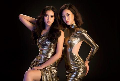 Hoa hậu Tiểu Vy diện váy hở, đọ dáng cùng Đỗ Mỹ Linh - Ảnh 2.