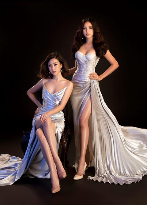Hoa hậu Tiểu Vy diện váy hở, đọ dáng cùng Đỗ Mỹ Linh - Ảnh 4.