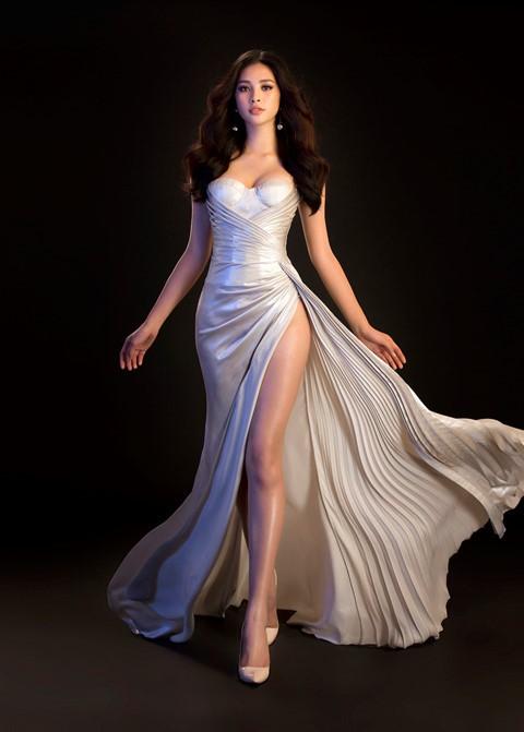 Hoa hậu Tiểu Vy diện váy hở, đọ dáng cùng Đỗ Mỹ Linh - Ảnh 8.