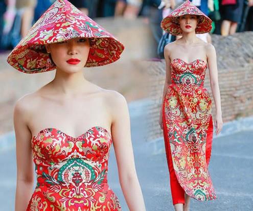 Thảm họa thời trang khi mỹ nhân Việt diện áo dài phản cảm - Ảnh 9.