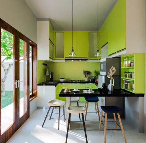 Không gian nhà bếp độc đáo với màu xanh lá cây - Ảnh 5.