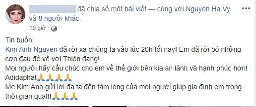 Tiếc thương người mẫu Kim Anh qua đời vì ung thư - Ảnh 2.