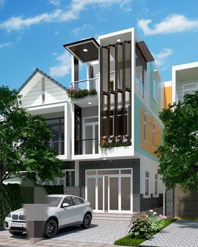 10 mẫu nhà phố hướng Tây đẹp quên sầu - Ảnh 2.