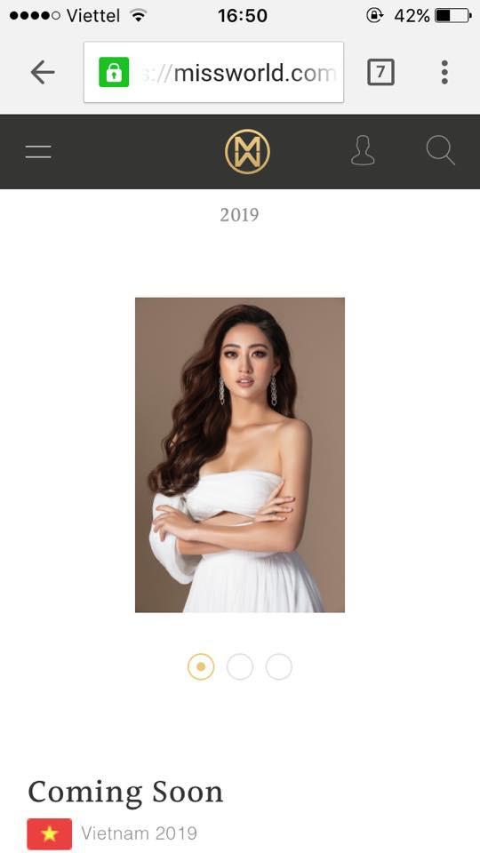 Sau khi bị chê béo, Lương Thuỳ Linh xuất hiện xinh đẹp trên trang chủ Miss World - Ảnh 1.