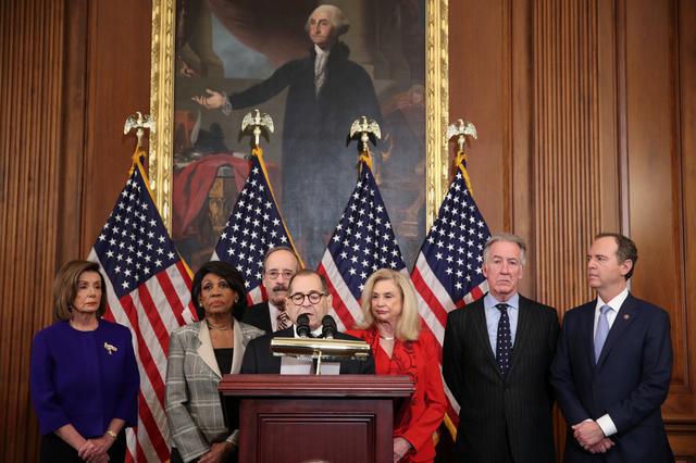 Hạ viện Mỹ công bố điều khoản luận tội Tổng thống Trump - Ảnh 1.