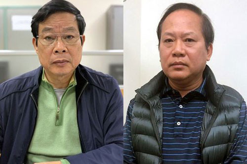 Sáng nay, 2 nguyên bộ trưởng Nguyễn Bắc Son và Trương Minh Tuấn được đưa đến tòa bằng xe đặc chủng - Ảnh 1.