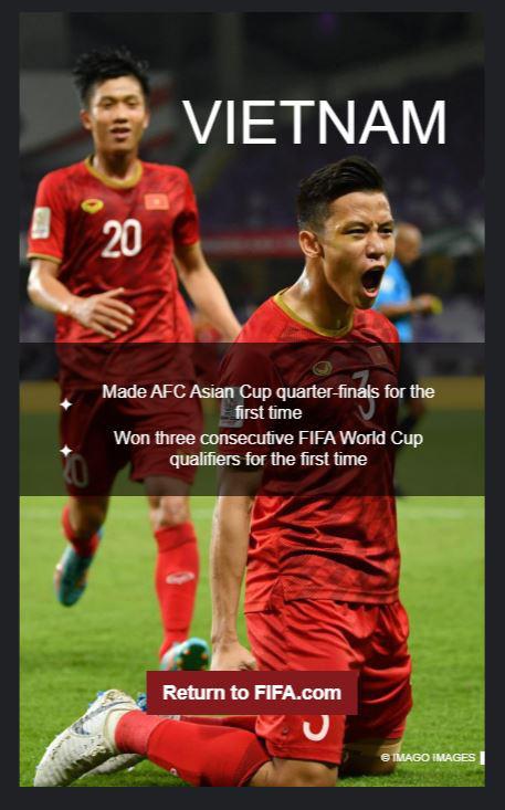 FIFA vinh danh đội tuyển Việt Nam vì những đột phá bất ngờ - Ảnh 1.