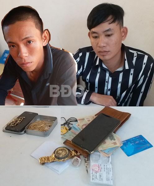 Bình Định: Bắt 2 nghi phạm thực hiện hàng loạt vụ cướp gây chấn động - Ảnh 1.