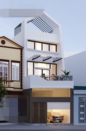 10 mẫu nhà phố 3 tầng 1 tum độc đáo nhất 2019 - Ảnh 8.