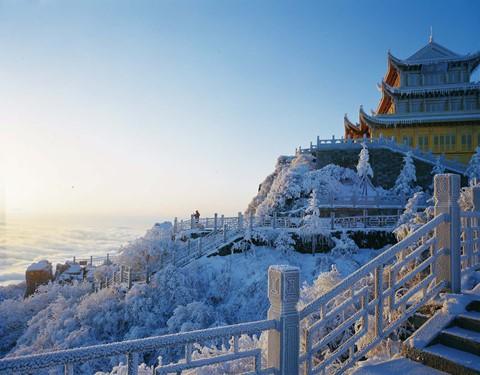 Núi Nga Mi ngập tuyết trắng - điểm du lịch hút khách ở Trung Quốc - Ảnh 3.