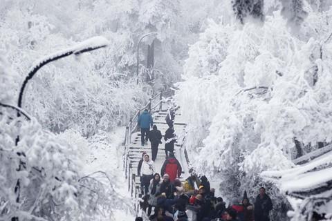 Núi Nga Mi ngập tuyết trắng - điểm du lịch hút khách ở Trung Quốc - Ảnh 4.