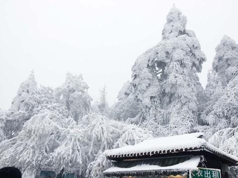 Núi Nga Mi ngập tuyết trắng - điểm du lịch hút khách ở Trung Quốc - Ảnh 8.