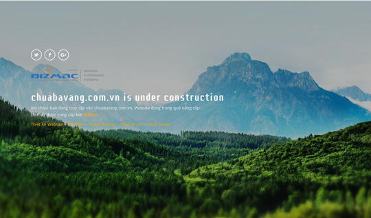 Website chùa Ba Vàng đã phải dừng hoạt động - Ảnh 1.