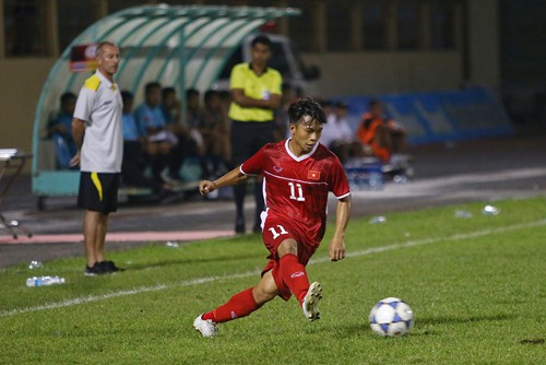 Lứa đàn em Quang Hải đàn áp, vượt trội U19 Thái Lan - Ảnh 1.