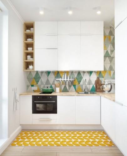 Phòng bếp mang phong cách hiện đại trong không gian chật hẹp - Ảnh 1.