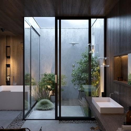 Mẫu thiết kế phòng tắm mở khiến bạn mê mẩn - Ảnh 5.