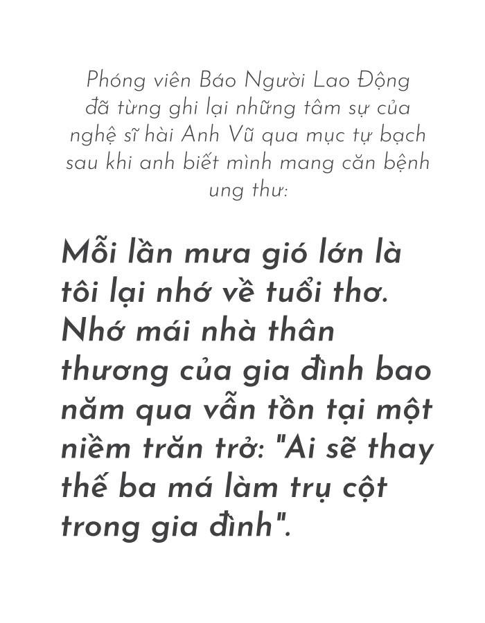 [eMagazine] - Lời gan ruột của nghệ sĩ hài Anh Vũ trước khi đột ngột qua đời ở Mỹ - Ảnh 1.
