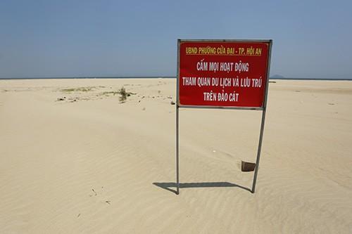 Đảo khủng long ở Cửa Đại tiếp tục rộng ra, bồi về 3 hướng - Ảnh 14.