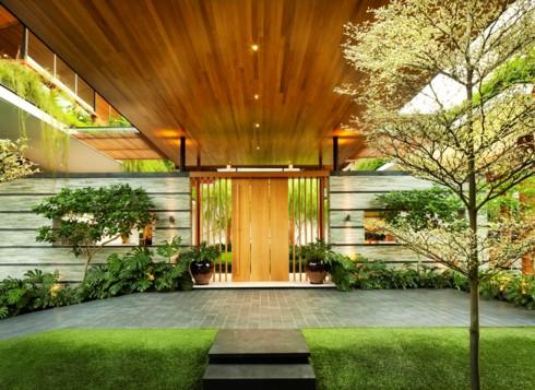 Ngôi nhà xanh mướt với vườn trên mái - Ảnh 3.
