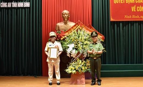 Phó giám đốc Công an Vĩnh Phúc làm Giám đốc Công an tỉnh Ninh Bình - ảnh 1