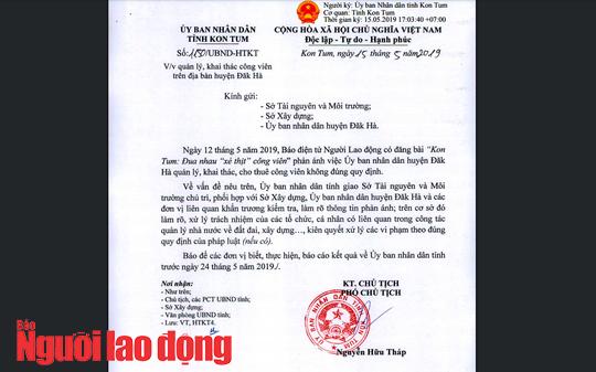 Vụ xẻ thịt công viên ở Kon Tum: Giám đốc sở ký, thanh tra sở kiểm tra - Ảnh 1.